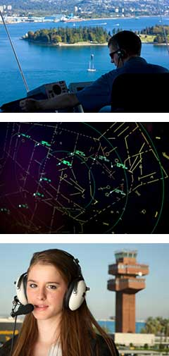 air traffic controllers and towers
